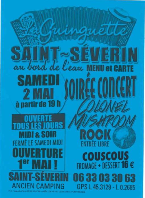 Soirée Concert @ Guinguette St Séverin