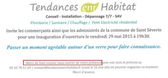 Inauguration / Portes ouvertes ENR Habitat @ Entreprise ENR Habitat, 51 rue du Périgord (à côté du SPAR)