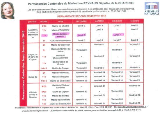 Permanence de Marie-Line REYNAUD, Députée de la Charente @ Mairie de Saint-Séverin