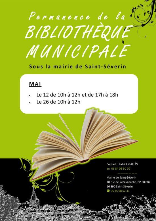 Bibliothèque municipale @ sous la Mairie de Saint-Séverin