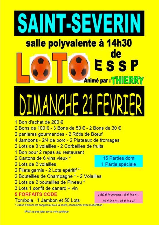 Loto @ Salle des fêtes de Saint-Séverin