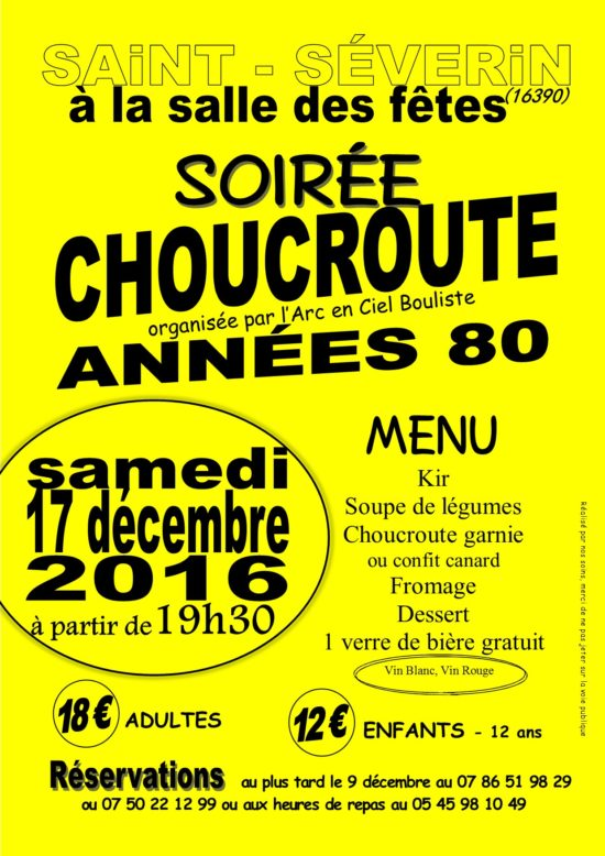 Soirée Choucroute, thème Années 80