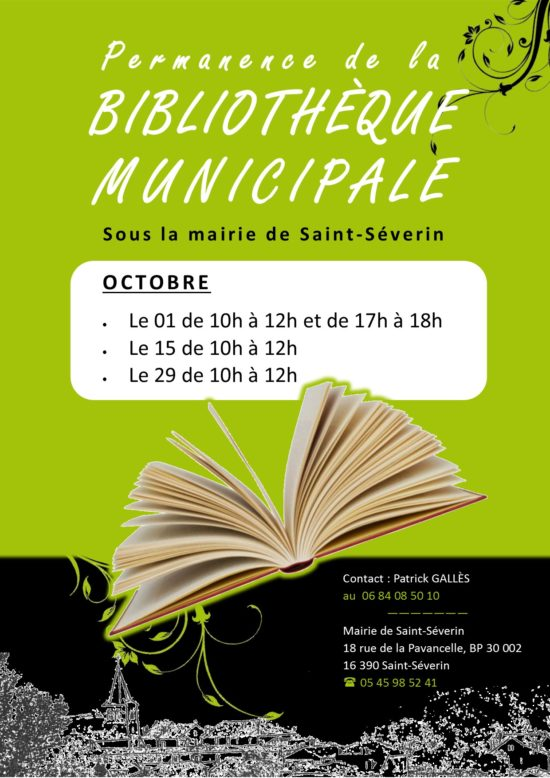 Permanence bibliothèque octobre 2015