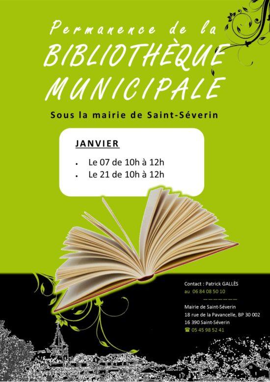 Permanence bibliothèque janvier 2016