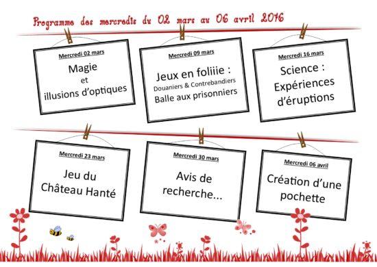 Programme CDL St-Severin mercredis mars avril 2016-2