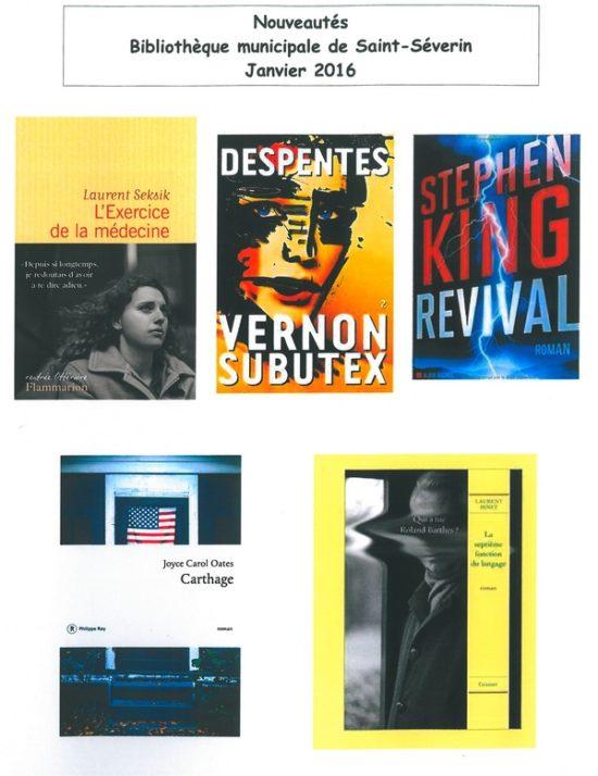 bibliotheque nouveautes janvier 2016