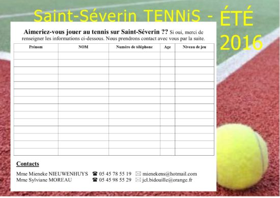 tennis St-Severin